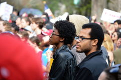Anti-Trump Protest Tallahassee, Florida. Protesters listening to speakers at the rally Stock Photography
