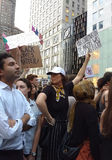 Anti-Trump Rally, Condemn Nazis and White Supremacy, NYC, NY, USA Stock Image