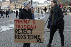 ANTI TRUMP AND TRUDEAU RALLY Royalty Free Stock Photography