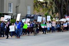 Anti-Trumpf-Protest, Tallahassee, Florida Stockfotografie