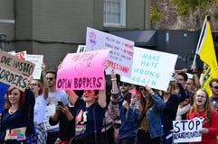 Anti-Trumpf-Protest, Tallahassee, Florida Lizenzfreies Stockfoto