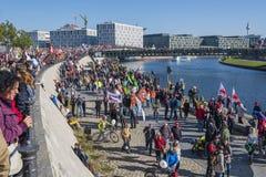 Anti-TTIP-demonstration i Berlin Royaltyfria Bilder