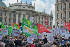Anti TTIP Protest in Munich Germany Stock Photography