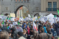 Anti TTIP Protest in Munich Germany Royalty Free Stock Image