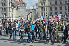 Anti TTIP Protest in Munich Germany Royalty Free Stock Photo