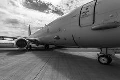 Anti--ubåt krig, anti--yttersida krig och flygplan för maritim patrull Boeing P-8 Poseidon Royaltyfria Foton