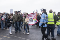 Anti UKIP protesters march on UKIP conference Margate Stock Photos