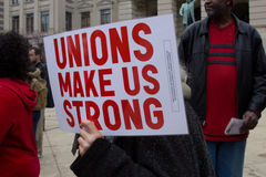 Anti Union Busting Rally Stock Image