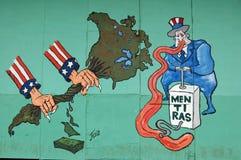 Anti--USA väggmålning, havannacigarr, Kuba Royaltyfri Fotografi