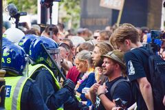 Free Anti- Vaccination Protest, London, UK, 24 July 2021 Royalty Free Stock Photos - 225344588