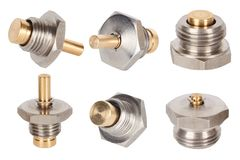 Anti vacuum valve. Spare parts for coffee machines stock photography