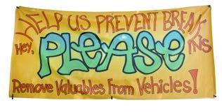 Anti Vandalism Banner Royalty Free Stock Image