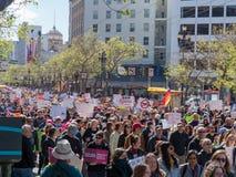 Anti--vapnet och marchers anti--NRA på mars för våra liv samlar i S Arkivfoto