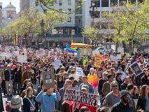 Anti--vapnet och marchers anti--NRA på mars för våra liv samlar i S Fotografering för Bildbyråer