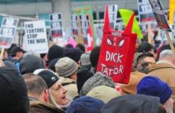 Anti-Vertagung Sammlung in Toronto Stockbild