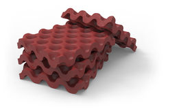 Anti vibration silicone rubber mat. On white Royalty Free Stock Photography
