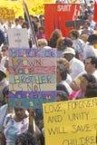Anti-violence demonstration Stock Photo