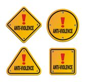 Anti-violence signs Stock Images