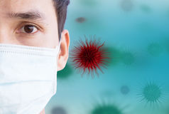 Anti Virus. Man Wearing Face Mask For Antivirus Royalty Free Stock Photo