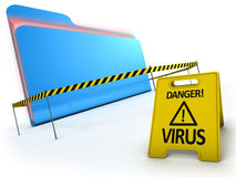 Anti virus concept. Royalty Free Stock Image