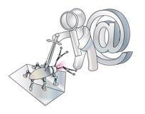 Anti-virus defensie van e-mail. Conceptie Royalty-vrije Stock Afbeeldingen