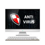 Anti-virus software. Stock illustration. Royalty Free Stock Image