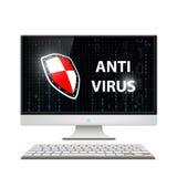 Anti-virus software. Stock illustration. Royalty Free Stock Image