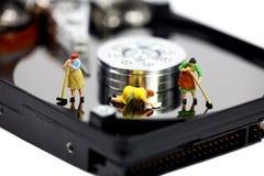 Anti-virus van de computer en veiligheidsconcept. Stock Fotografie