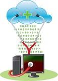 Anti-virus van de wolk concept Stock Afbeeldingen