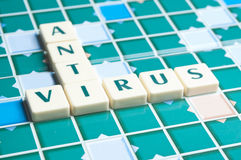 Anti Virus word made by letter pieces Stock Image