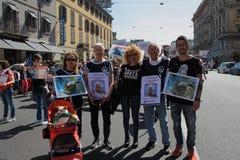 Anti-vivisección 13 de marzo mayo de 2017 Milán Imagenes de archivo
