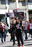 Anti-vivisección 13 de marzo mayo de 2017 Milán Fotos de archivo libres de regalías