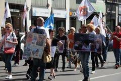 Anti-vivisección 13 de marzo mayo de 2017 Milán Fotos de archivo