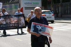 Anti-vivisección 13 de marzo mayo de 2017 Milán Fotografía de archivo