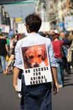 Anti-vivisectie 13 maart Mei 2017 Milaan Stock Afbeeldingen