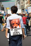 Anti-vivisection march 13 May 2017 Milan Stock Images