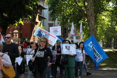 Anti-vivisection march 13 May 2017 Milan Royalty Free Stock Image