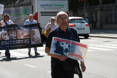 Anti-vivisection march 13 May 2017 Milan Stock Photography