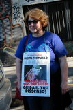 Anti-Vivisektion am 13. März Mailand im Mai 2017 Lizenzfreie Stockfotografie