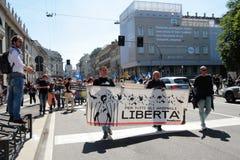 Anti-vivisezione 13 marzo maggio 2017 Milano Fotografia Stock Libera da Diritti