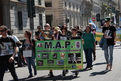 Anti-vivisezione 13 marzo maggio 2017 Milano Fotografia Stock
