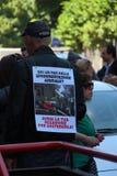 Anti-vivisseção o 13 de março maio de 2017 Milão Fotografia de Stock