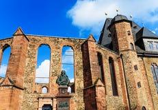 Anti-War Memorial Walloon Dutch Church in Hanau, near Frankfurt Royalty Free Stock Images