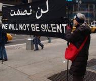 Anti-war protest af en toe Vierkant royalty-vrije stock afbeelding