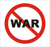 Anti war Sign, vector Stock Photos
