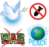 Anti-war vector symbol Royalty Free Stock Photography