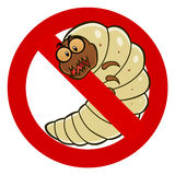 Anti woodworm sign Royalty Free Stock Photo