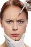 Anti-wrinkle injection Royalty Free Stock Images