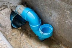 Antiabwasserrohr des geruchs U Blockierdes Hauses für schützen Geruch lizenzfreies stockbild