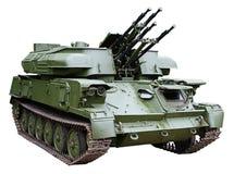 antiaircraft armored tryckspruta framdriven själv Arkivfoton
